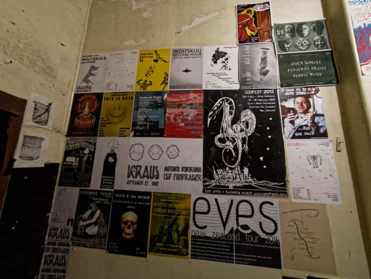 Posters of gigs over the years
